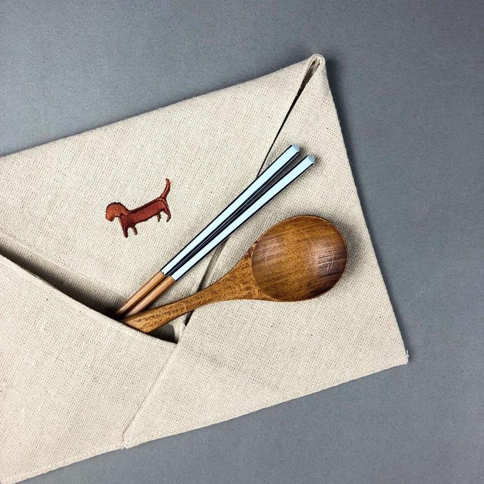 (複製)光山行|LOGO亞麻布餐具包 Cutlery bag