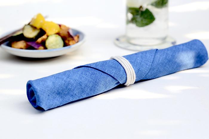 (複製)光山行|藍染餐具包 雲染 Indigo cutlery bag
