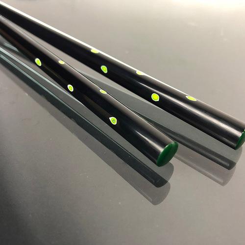 光山行|手工研磨漆筷 圓點 Lacquer chopsticks(黃綠色)