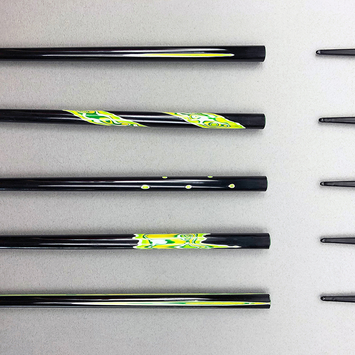 光山行|手工研磨漆筷 面 Lacquer chopsticks(黃綠色)