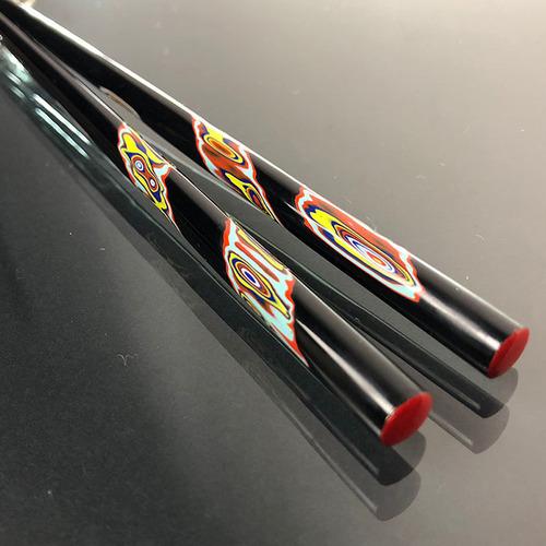 光山行|手工研磨漆筷 旋轉 Lacquer chopsticks(紅藍色)