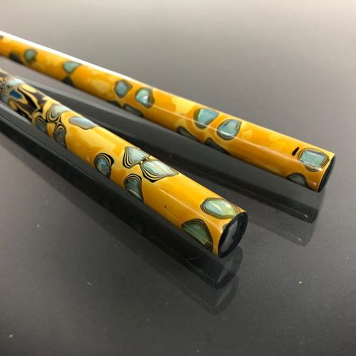 光山行|手工研磨漆筷 螺鈿 Lacquer chopsticks(黃色)