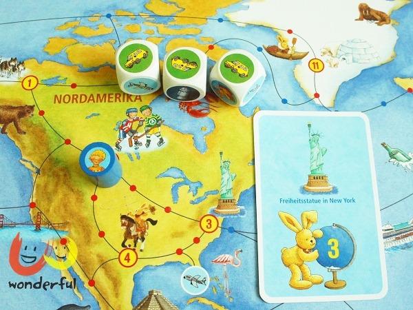 Spiegelburg|德國Felix 小兔環遊世界桌上遊戲+拼圖組
