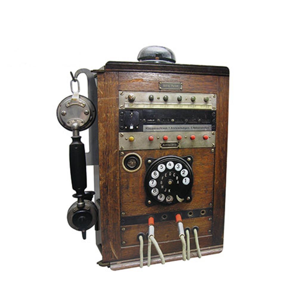 Werkhaus 復古電話造型置物櫃 (木頭色)
