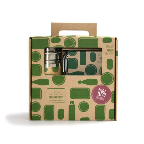 ECO Brotbox   德國不鏽鋼便當盒+220ml點心盒開學禮盒組