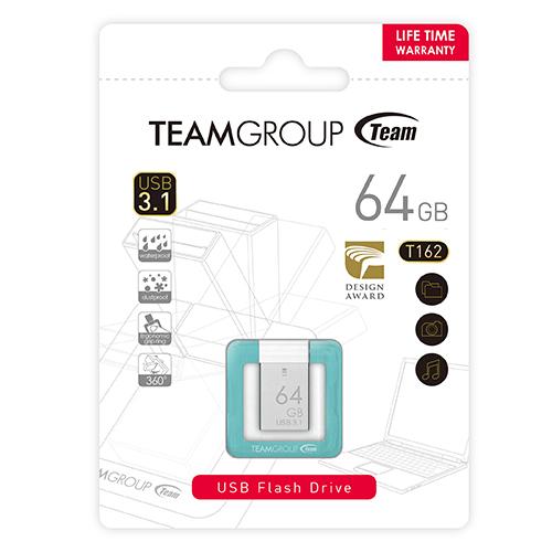 Team Group 十銓|T162 指扣碟 64G USB3.1 高速傳輸防水防塵隨身碟(終生保固)