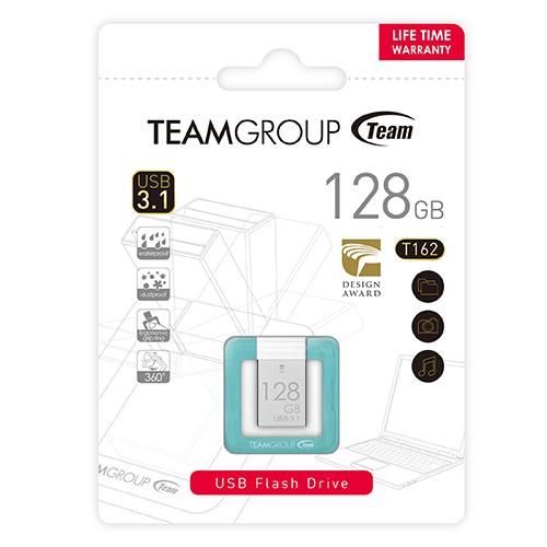 Team Group 十銓|T162 指扣碟 128G USB3.1 高速傳輸防水防塵隨身碟(終生保固)