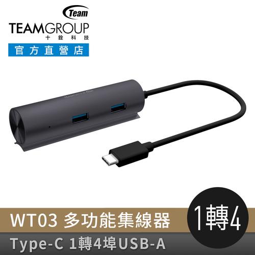 Team Group   十銓 WT03 Type-C 4 Ports USB 3.1 多功能集線器(轉接器)