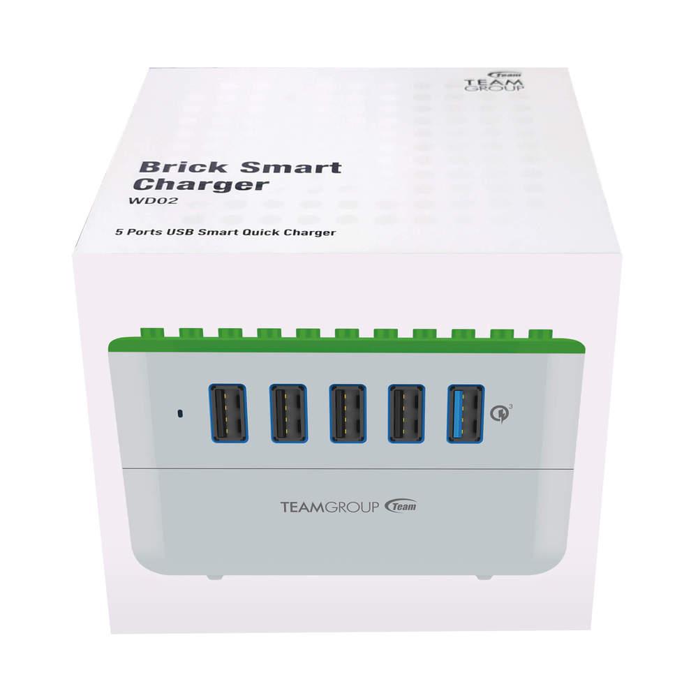 【採購案】Team Group|WD02 積木方塊充電座-相容樂高積木,支援QC 3.0快充 - 城市綠地 X31組