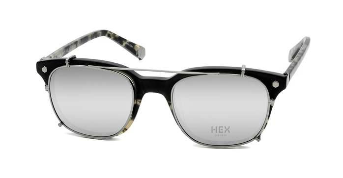 HEX Eyewear 騙子 - Abagnale│光學配前掛墨鏡│太陽眼鏡│義大利製 - 黑啡花