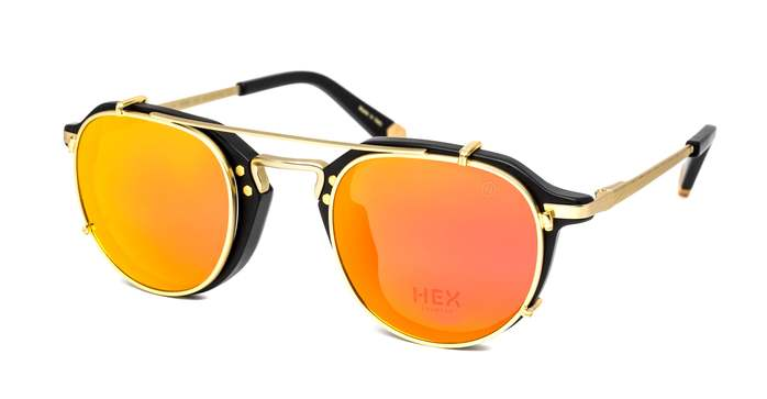 HEX Eyewear 商人 - Morgan│光學配前掛墨鏡│太陽眼鏡│義大利製 - 黑色