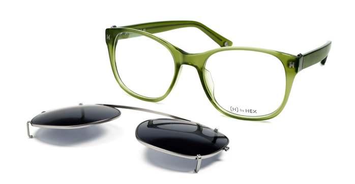HEX Eyewear|騎士 - King A.│光學配前掛墨鏡│太陽眼鏡│義大利設計 - 墨綠