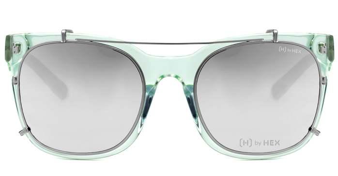 HEX Eyewear 模特兒 - Derek Z.│光學配前掛墨鏡│太陽眼鏡│義大利設計 - 透綠色
