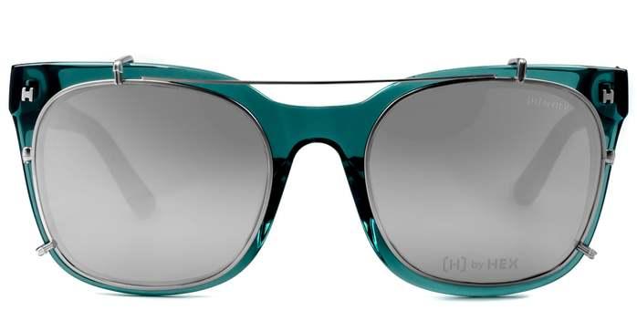 HEX Eyewear|模特兒 - Derek Z.│光學配前掛墨鏡│太陽眼鏡│義大利設計 - 透墨綠