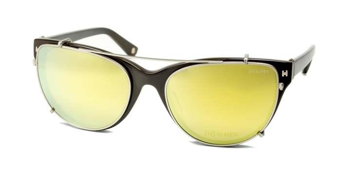 HEX Eyewear|空服員 - Ellen C.│光學配前掛墨鏡│太陽眼鏡│義大利設計 - 茶色