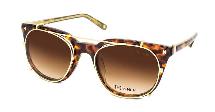 HEX Eyewear|運動家 - Cristiano R.│光學配前掛墨鏡│太陽眼鏡│義大利設計 - 褐綠啡花