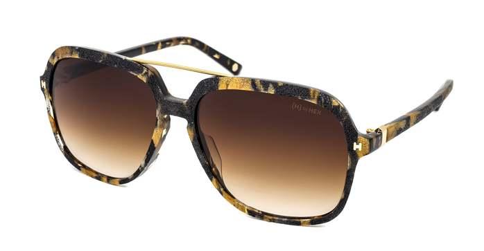 HEX Eyewear|藝術家 - Kurt C.│墨鏡│太陽眼鏡│義大利設計 - 褐色炭燒啡花