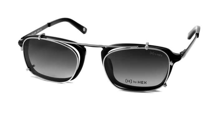 HEX Eyewear 演員 - Matt D.│光學配前掛墨鏡│太陽眼鏡│義大利設計 - 消光黑