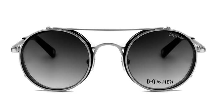 HEX Eyewear|記者 - Joseph P.│光學配前掛墨鏡│太陽眼鏡│義大利設計 - 黑色