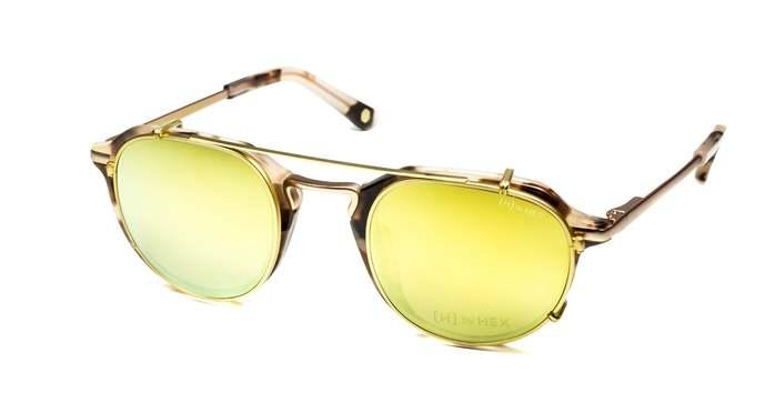 HEX Eyewear 商人 - John M.│光學配前掛墨鏡│太陽眼鏡│義大利設計 - 米褐色啡花
