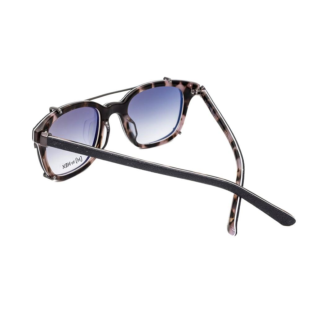 HEX Eyewear|騙子 - Frank A.│光學配前掛墨鏡│太陽眼鏡│義大利設計 - 炭燒深藍