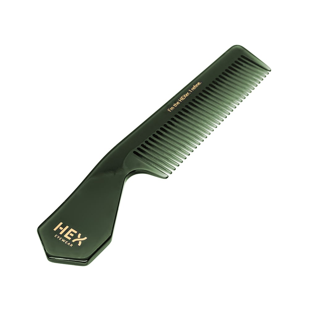 HEX Eyewear|梳子|HEXETATE 眼鏡墨鏡板料配件 - 透綠色