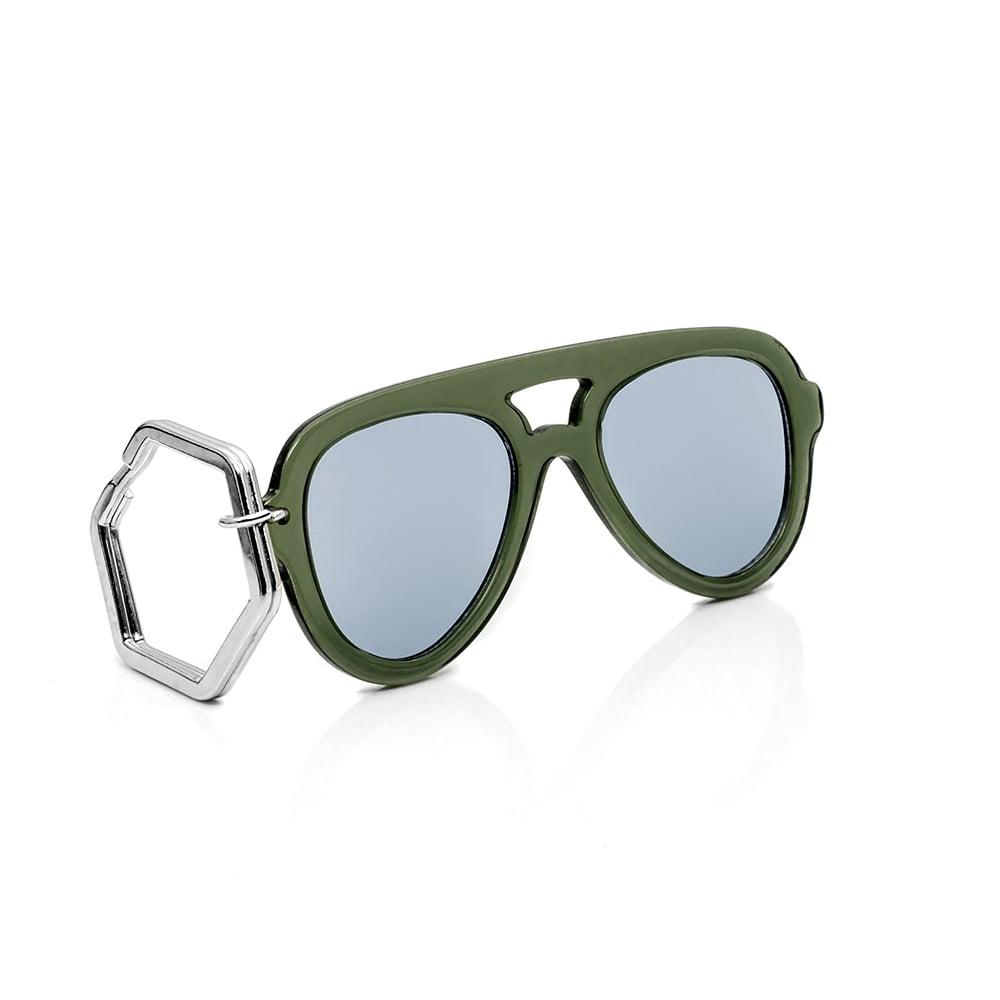 HEX Eyewear 墨鏡鑰匙圈 太陽眼鏡鑰匙圈 HEXETATE 板料配件 - 透綠色