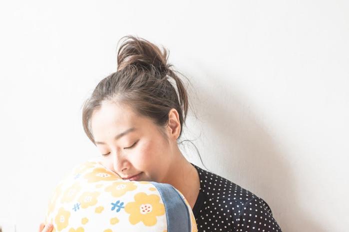 (複製)HIPEPPER|日式和風小花抱枕-青草綠
