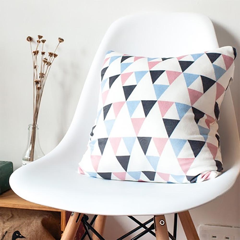 HIPEPPER|奇幻幾何圖形抱枕-粉藍