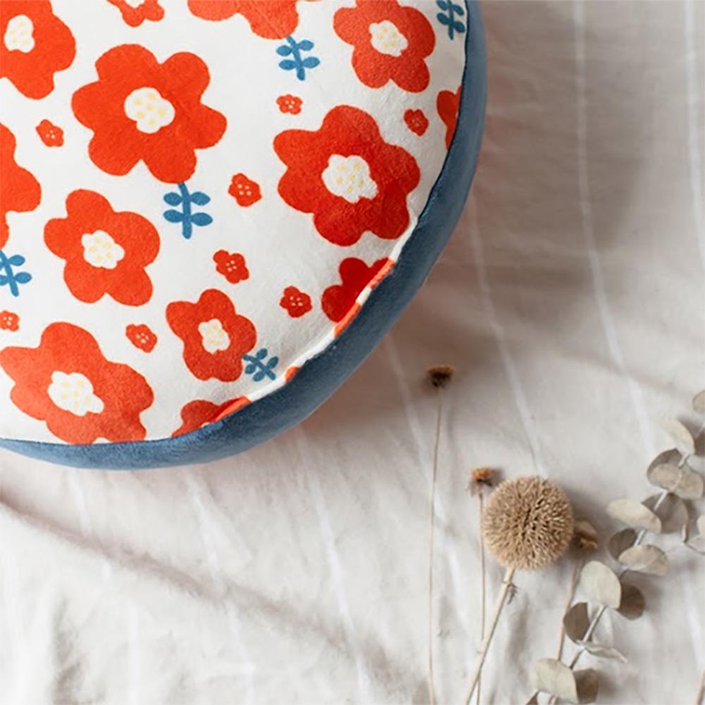 HIPEPPER 日式和風小花抱枕-熱情紅