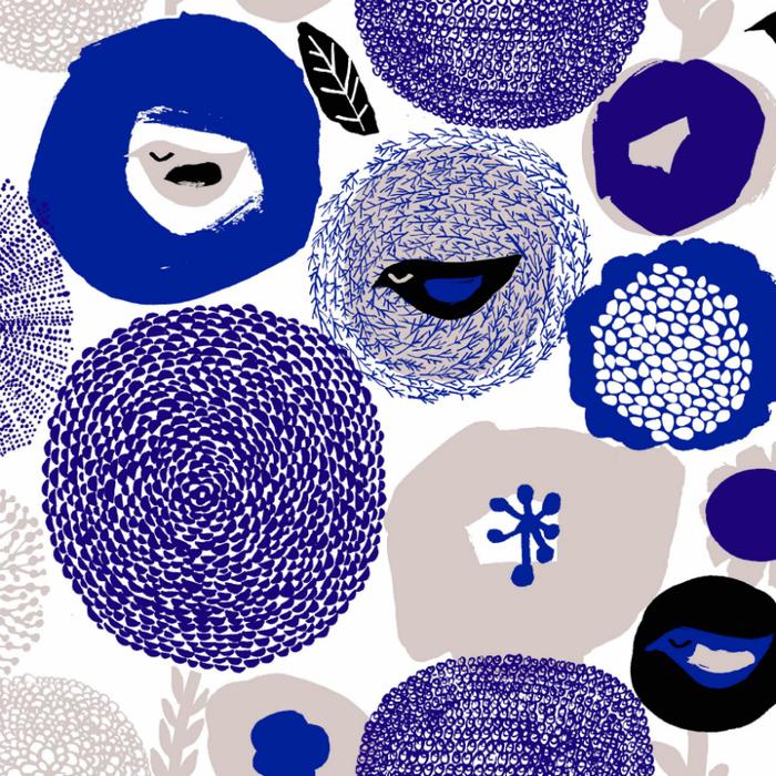 Kauniste|棉麻布包 (紫色星期天)