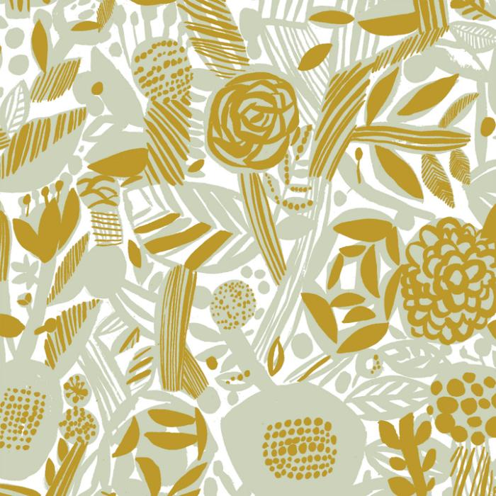 Kauniste|棉麻布包 (粉綠香氛)