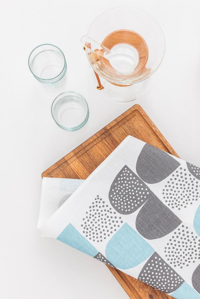 (複製)Kauniste|棉麻擦巾 (藍色砂糖)