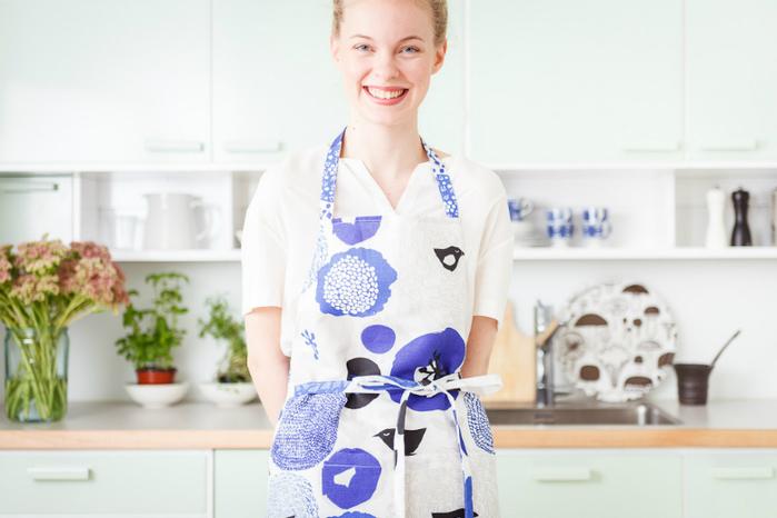 Kauniste|棉麻圍裙 (紫色星期天)