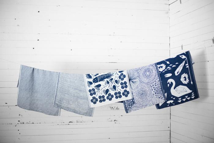 Lapuan Kankurit 鹿兒島睦鯉魚萬用擦巾 (藍莓色)