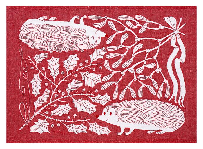 Lapuan Kankurit|鹿兒島睦刺蝟萬用擦巾 (紅白)