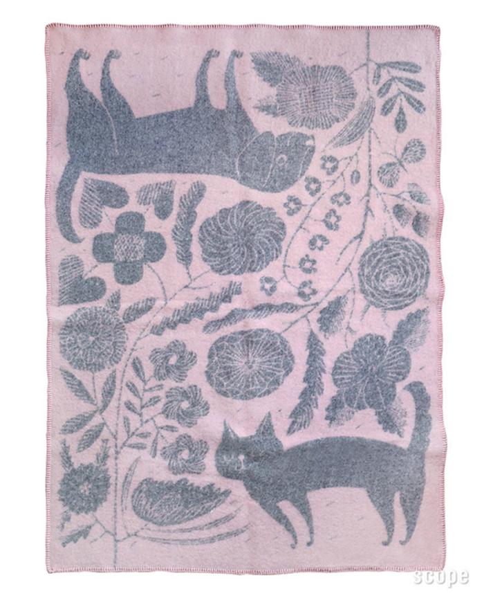 (複製)Lapuan Kankurit|鹿兒島睦貓狗羊毛毯 (藍白)