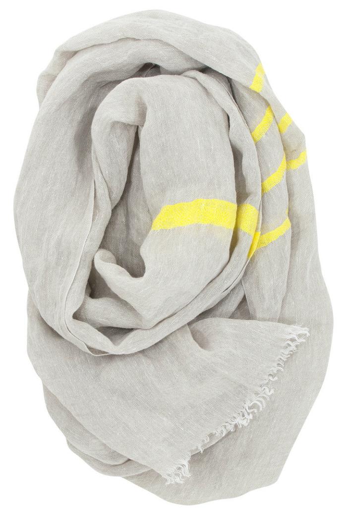 Lapuan Kankurit|TSVA亞麻薄圍巾 (黃條紋)