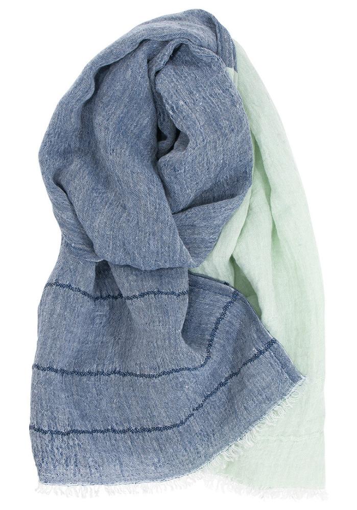 (複製)Lapuan Kankurit|TSVA亞麻薄圍巾 (藍條紋)