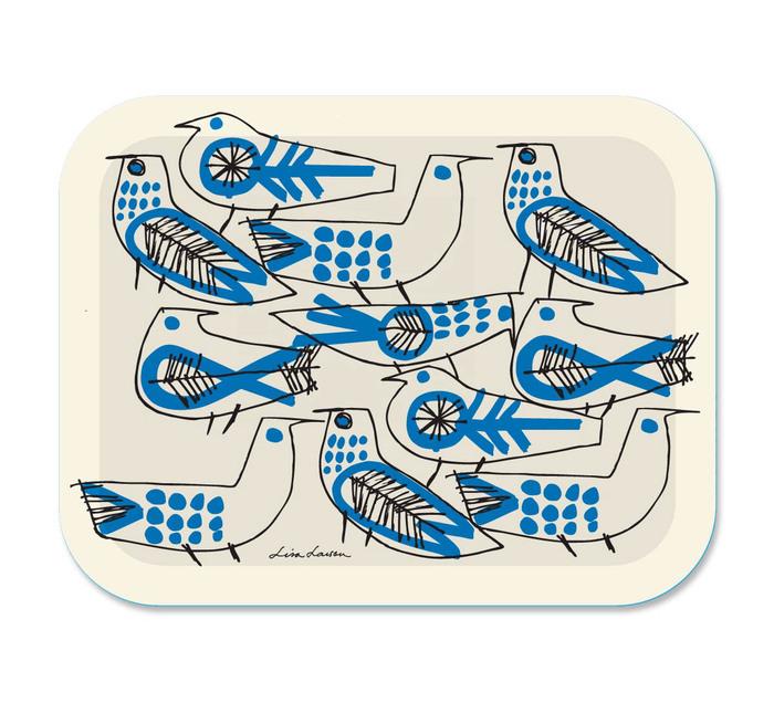 (複製)Lisa Larson|復古藍鳥白樺木小托盤