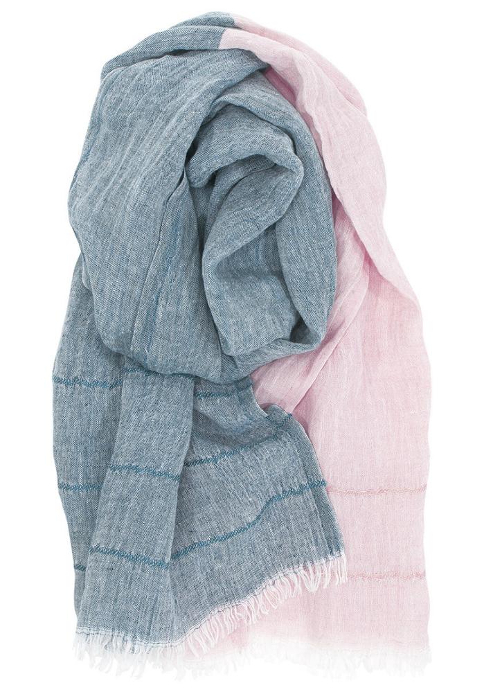 (複製)Lapuan Kankurit|TSAVO亞麻薄圍巾 (淺灰+白)