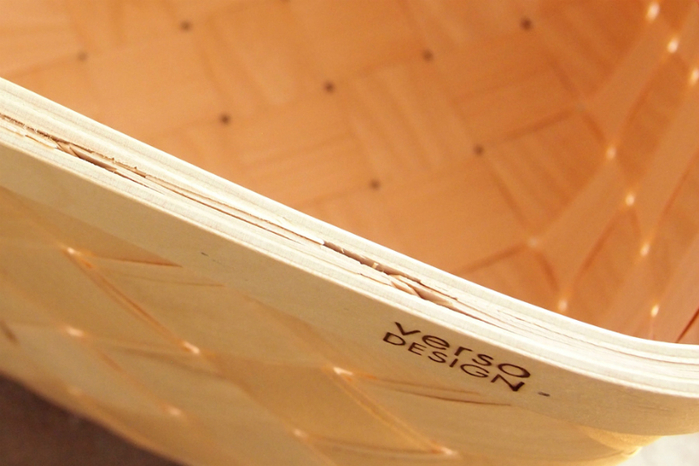 Verso Design|白樺木編織小掛籃 (紅羊毛氈把)