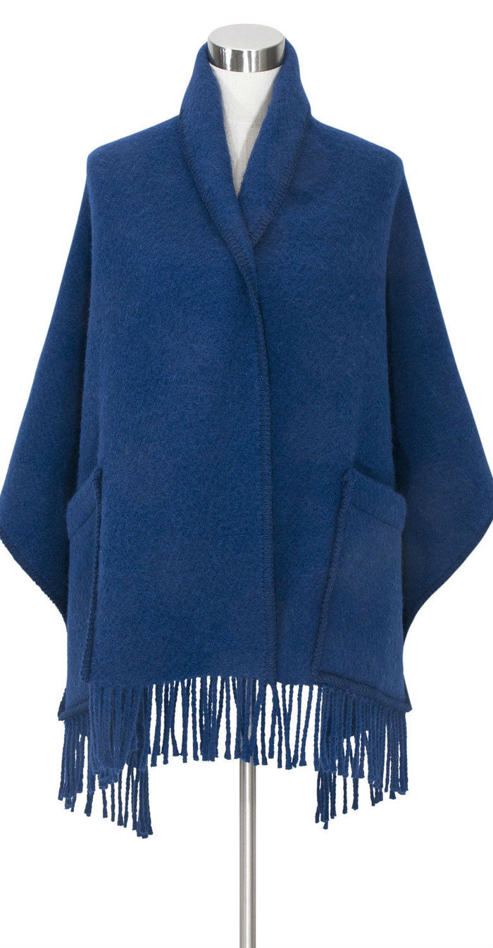 Lapuan Kankurit IIDA 羊毛口袋披肩 (深黑條紋)