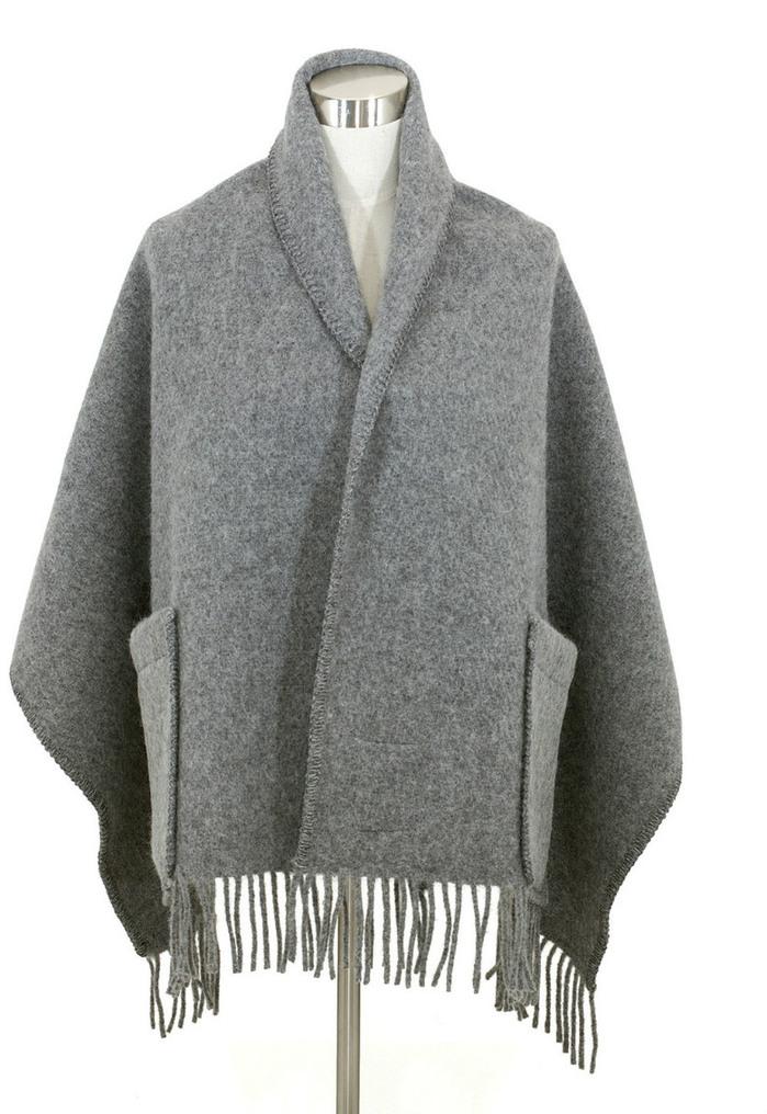 Lapuan Kankurit|UNI羊毛口袋披肩 (淺灰)