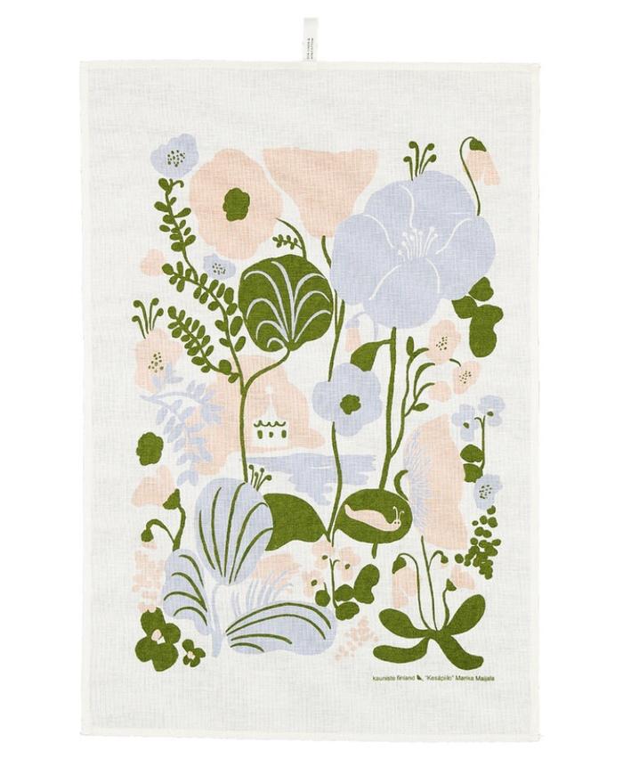 (複製)Kauniste|棉麻擦巾 (橄欖綠果香樂園)