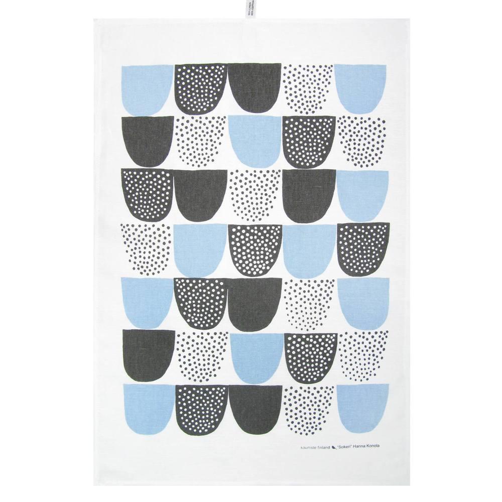 Kauniste|棉麻擦巾 (藍色砂糖)