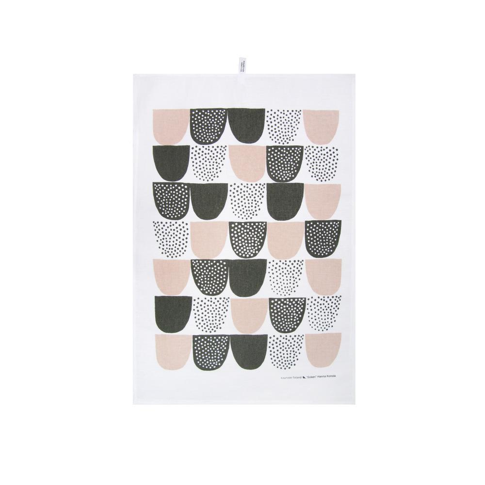 Kauniste|棉麻擦巾 (粉紅砂糖)
