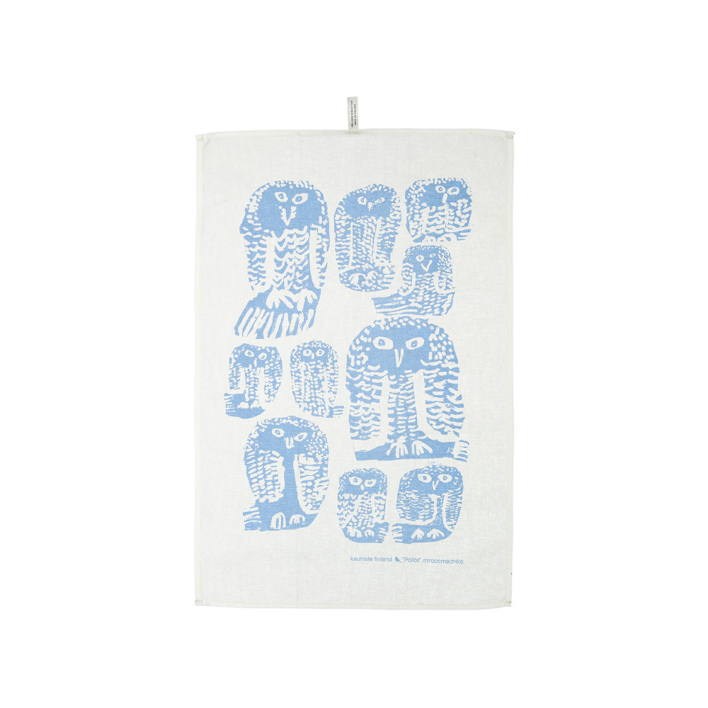 Kauniste|棉麻擦巾 (灰色貓頭鷹)