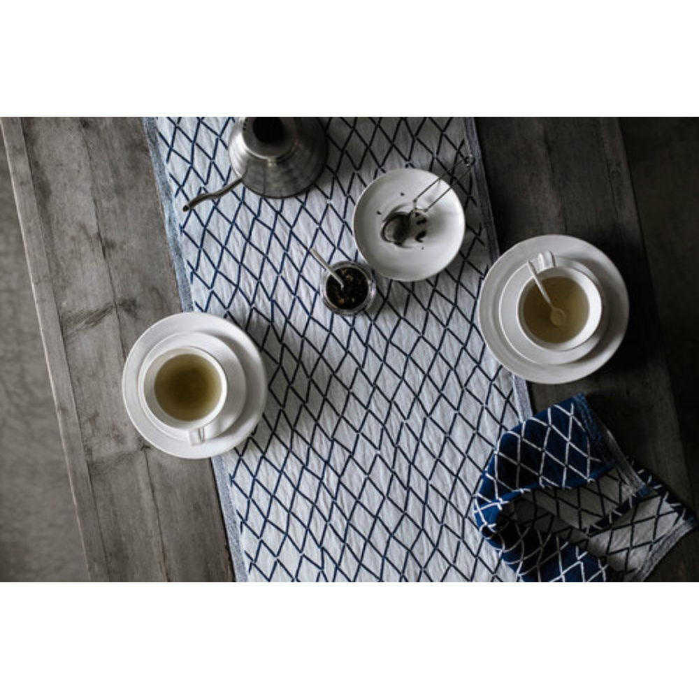 Lapuan Kankurit Eskimo棉麻長桌巾 (深藍)