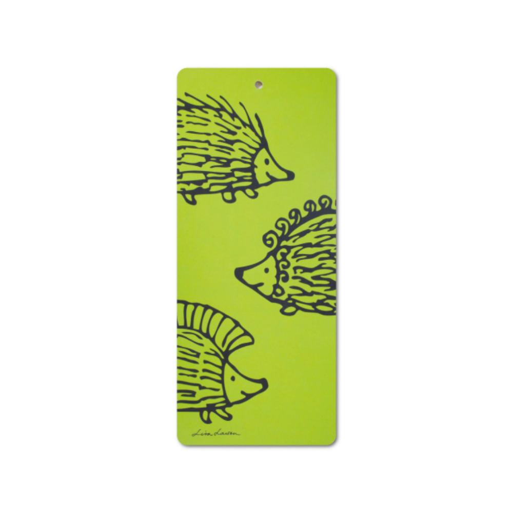 Lisa Larson|刺蝟三兄弟白樺木砧板/餐墊 (綠)